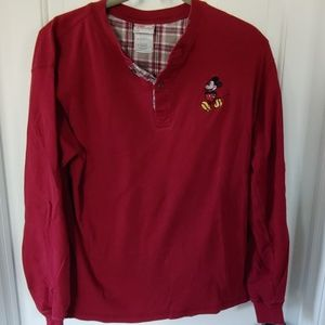 Mickey Mouse maroon henley
